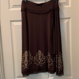 Beautiful Brown Laced Skirt